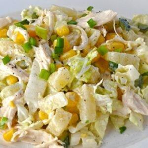 Рецепт салата из пекинской капусты с курицей