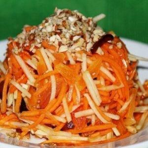 Салат из свежей тыквы на завтрак