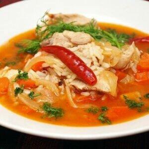 Как приготовить куриный суп с рисом острый