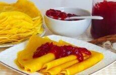 Рецепты блинов необычных — с куркумой