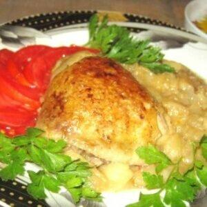 Как это вкусно, необычно! Куриные бедрышки в яблочном соусе