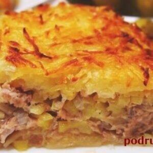 Как легко и просто приготовить вкусную картофельную запеканку с фаршем