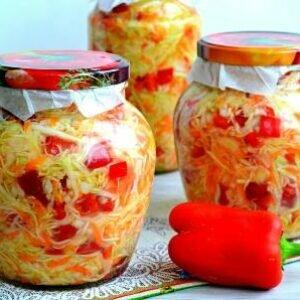 Салат в банке на зиму рецепт
