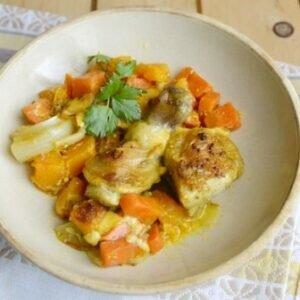 Сезонное блюдо из курицы с тыквой